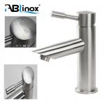 China Precision Lost Wax Casting Stainless Steel Faucet Basin Tap Satin Finish For Bathroom for sale