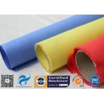 China Red Silicone Rubber Coated Fiberglass Engineer Acoustic Insulation Fabric Material for sale