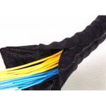 China Self Adhesive Velcro Braided Cable Wrap , Velcro Sleeve For Cables And Wires for sale