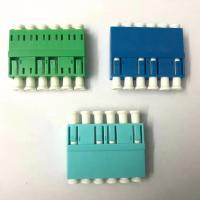 China Six Port Lc To Lc Fiber Optic Adapters High Density Good Exchangeability For Catv factory