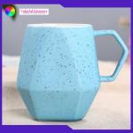 Sesame - Glazed Ceramic Custom Embossed Mugs Food Contact Safe Cadmium Free for sale
