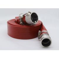 China Plastic High Pressure Heavy Duty PVC Layflat Hose Pipe With Couplings for sale