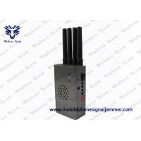 China Portable High Power Signal Jammer with Fan CDMA GSM DCS PCS 3G Grey Color for sale