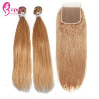 27# Bundle Virgin Human Cuticle Aligned Silky Straight Hair Weft Machine for sale
