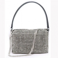 Rhinestone Womens Messenger Handbag 17x6x11cm for sale