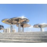 China 316L Stainless Steel Large Outdoor Garden Statues 3M height Abstract Style supplier