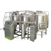 Volume 700L 3 Vessel Brewing System Steam Heating Brewhouse For Beer Making for sale