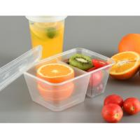 1000ml PP Disposable Food Trays With Compartments