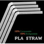 China PLA straw biodegradable strawCorn starch 100% biodegradable non plastic drinking straw PLA straws, for sale