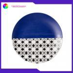 China 8 Inch Geometric Flat Custom Printed Dinner Plates Ceramic Tableware Eco Friendly for sale