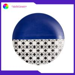 8 Inch Geometric Flat Custom Printed Dinner Plates Ceramic Tableware Eco Friendly for sale