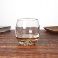 350ml / 12oz Round iceberg shaped thick bottom Whiskey Glasses