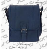 Classic Navy Messenger Bag , Cross Body PU Shoulder Bags For Office Male for sale