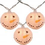 Led Paper Lanterns Hanging Indoor String Lights 8 Cm Square Snowman Shaped for sale