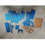China Aluminum Metal CNC Machining Drilling Brushed Hinge Process With Anodized Color for sale