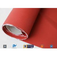 580gsm 260℃ Fiberglass Cloth Thermal Insulation Jacket Fabric Silicone Coated for sale