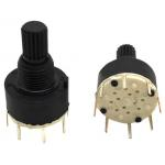 Plastic 16mm Rotary Band Switch 1 Pole 8 Positions 0.5N - 1N DC 60V 0.3A for sale