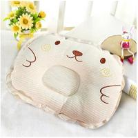 Toddler Safe Soft 3D Mesh Pillow Brown Embroidery For Anti - Roll Sleeping Cushion for sale
