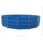UV Resistant 10000L Round Folded PVC Tarpaulin Fish Tank for sale