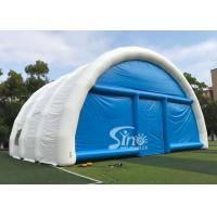 15m x 15m white N blue large airtight inflatable wedding party tent with best material from China Inflatable factory