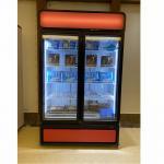 China 220V Glass Door 1000 Liter Upright Freezer Refrigerator Display Case With Donper Compressor for sale