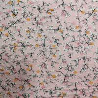 100% Rayon Printed Stretch Jersey Fabric 170gsm With Plum Blossom Pattern for sale