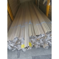China Beige PE Coated 0.8MM 1.0MM Thickness Steel Lean Pipe for sale