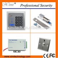 China Good quality standalone access control set with 12V 3A power supply,electric bolt lock, door exit button access controller kit for sale