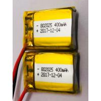 China Electronic Products Lithium Polymer Battery Pack 802025 3.7v 400/410mah Long Lifespan for sale