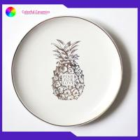 8 Inch Nordic Style Custom Printed Ceramic Plates Tableware Microwave Safe for sale