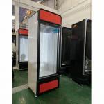 China Automatic Defrost Glass Door Beverage Freezer Upright Display Fridge for sale