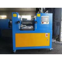 PLC Type Two Roll Mill , Yellow & Blue Color Customized Lab Mixing Mill