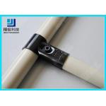 Adjustable Metal Joint for Pipe Rack , Thickness 23mm  T-Type Black Tubing Joint HJ-1 for sale