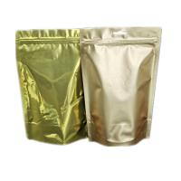 Gold Color Foil Smell Proof Stand Up Pouch Ziplock Bag Heat Seal Zipper Top for sale