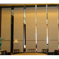 Hotel Acoustic Folding Partition Wall Divide Space Top Hanging System / Soundproof Room Dividers for sale