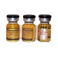 Gold Glossy Paper Waterproof  Steroid Vial Labels For Trenbolone Aceate for sale