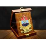 China Square Custom Trophy Awards Wood Gift Box Package As Company Decorations for sale