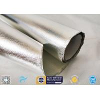 0.85mm Thick Silver Coated Fabric 95% Heat Reflection Aluminium Foil Laminated for sale