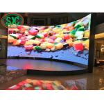 P4.81 stage LED screen advertising board wide viewing angle, with curvature, 3840hz refresh rate for sale