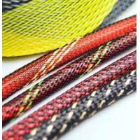 China Electrical PET Expandable Braided Sleeving Network Sheath For Wire Protection for sale
