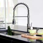 China Hot And Cold Water Stainless Steel Faucet With Pull Out For Kitchen for sale