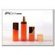 Promotional 15ml Empty Square Plastic PP Airless Bottle Orange Skin Care Cream Bottle for sale