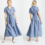 China Clothing Manufacturer Striped Maxi Dresses For Women Summer for sale