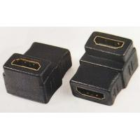 China HDMI Female To Hdmi Female Converter Adapter, 90 degree angle type for sale