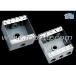 China Square Weatherproof Electrical Boxes 3 Hole One Gang Outlet Fitting Accessory for sale