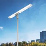 China Mono Crystalline Integrated Led Solar Street Light Customizable Specifications LiFePO4 and MTTP Controller for sale