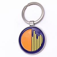 Fashion Size Custom Metal Keychains Brass / Zinc Alloy Iron Material for sale