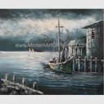 China Contemporary Fishing Boat Painting At Sea  / Sailing Ship Paintings Prints for sale