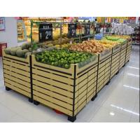 China Bottomless Wooden Retail Display Shelves / Fruit Vegetable Wooden Shop Shelving For Store supplier