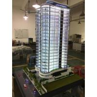 China Handmade Acrylic Architecture Model / High Rise Building Model With Led for sale